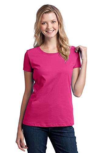 Fruit of the Loom Ladies' 5 oz, HD CottonÖ T-Shirt-Cyber Pink-M
