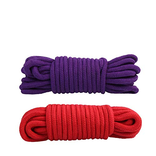 SYSI Cuerdas de Algodón Multipropósito Suave, 10m Cuerda de Acampada Cuerda de...