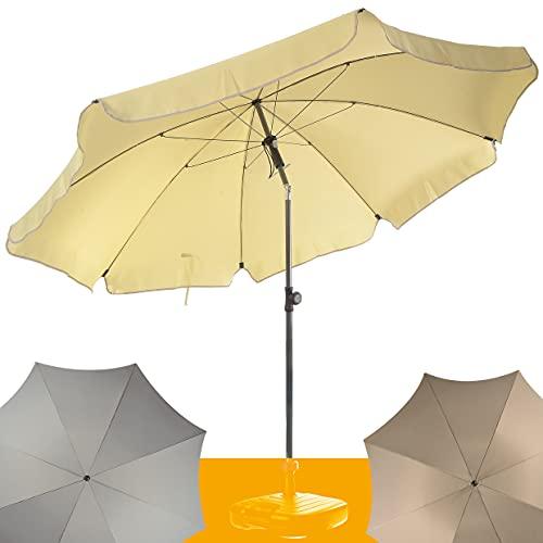 4smile Sonnenschirm Balkon SunnyJoy – UV 50+ Balkon-Sonnenschirm 200cm, knickbar – sommerlich leicht in Fb. Creme - kleine Sonnenschirme zaubern Ambiente
