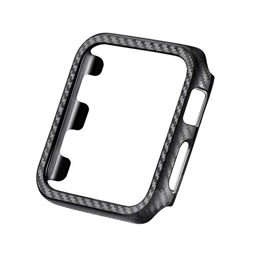 good01 - Custodia Protettiva di Ricambio per Apple Watch Serie 1/2/3/4, in Fibra di Carbonio, for 44mm iWatch 4
