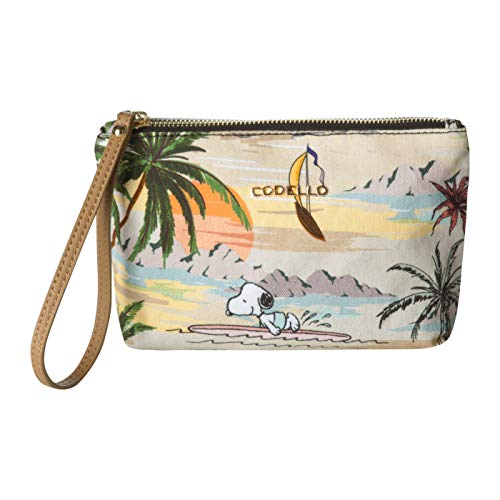 "CODELLO Damen ""PEANUTS"" Beauty Bag mit Snoopy & Co. aus Canvas"