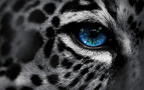 CZYSKY Animales Gatos Leopardos Depredador Ojos Triste Tristeza Azul, Rompecabezas 35 Piezas Puzzle, Juguetes Educativos para Niños Adultos, Regalos Personalizados