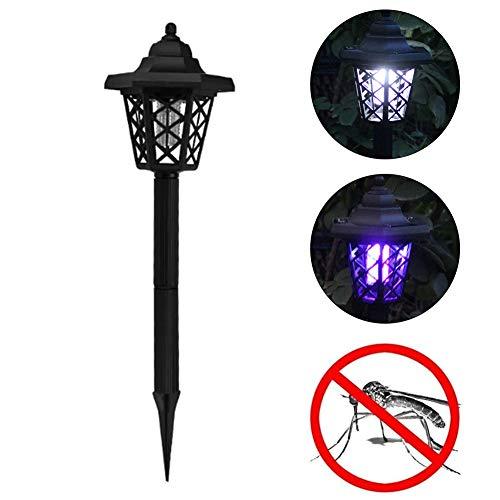 RENNICOCO Lámpara de jardín Solar Repelente de Mosquitos para Exteriores Lámpara de Suelo Lámpara insecticida Lámparas de pie
