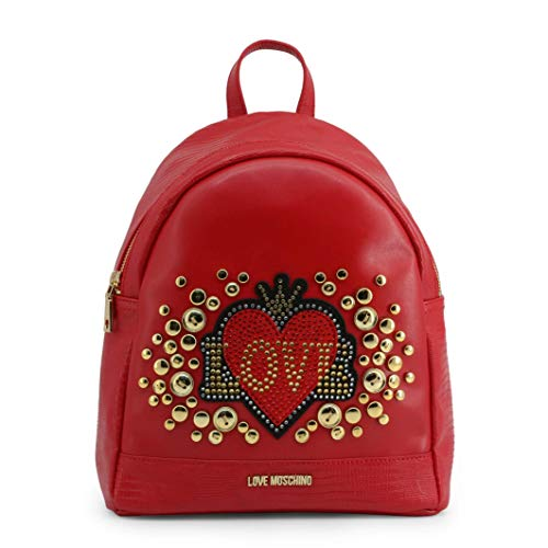 Love Moschino Women Zaino in ecopelle con strass Red Backpacks onesize