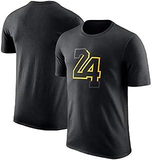 6d10bee2 GXYGWJ 2019 Basketball Lakers Kobe Bryant 24a edición Jersey Camiseta de  Manga Corta Cómoda algodón de