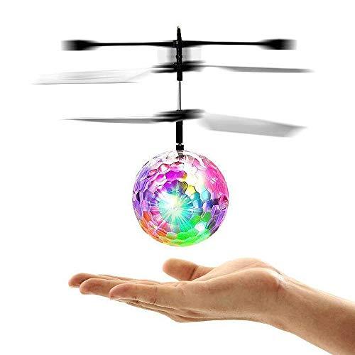 ERYI Flying Ball Toys, Juguete RC para niños, niños, niñas, Regalos, Recargable, Bola de luz, Drone, helicóptero de inducción infrarrojo con Control Remoto para Juegos en Interiores y Exteriores
