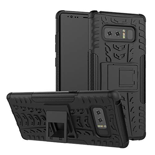 betterfon | Outdoor Handy Tasche Hybrid Hülle Schutz Hülle Panzer TPU Silikon Hard Cover Bumper für Samsung Galaxy Note 8 / Duos Schwarz