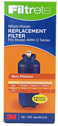 3M Filtrete Whole House Water Filtration Replacement Filter Model 4WH-QS-F01 Fits Model 4WH-Q Series.