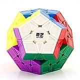 LiangCuber Qiyi 3x3 Megaminx Speed Cube Stickerless Qiyi Qiheng S Megaminx Pentagonal Dodecahedron Cube Puzzle Toy