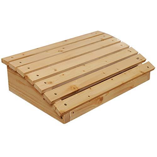 Apodis Fußstütze unter dem Schreibtisch, Gaming Stuhl Fußablage, Fußbank Büro Ergonomische für Unterstützen Sie die Richtige Haltung, Naturholz, 40×30×13.5cm Klarlack