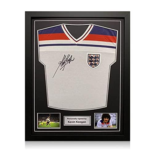 exclusivememorabilia.com Camiseta de Inglaterra firmada por Kevin Keegan. Marco estándar