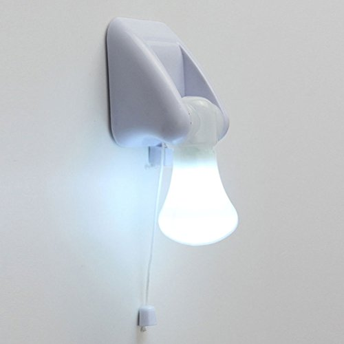 Portable Wire LED Bulb Cabinet Lamp Night Light Battery Operated Self Adhesive Wall Mount Light
