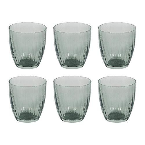 Bohemia Cristal 10259215 Georgia Wasserglas 260 ml, Kristallglas, Design im Landhaus-Stil, grün (6 Stück)
