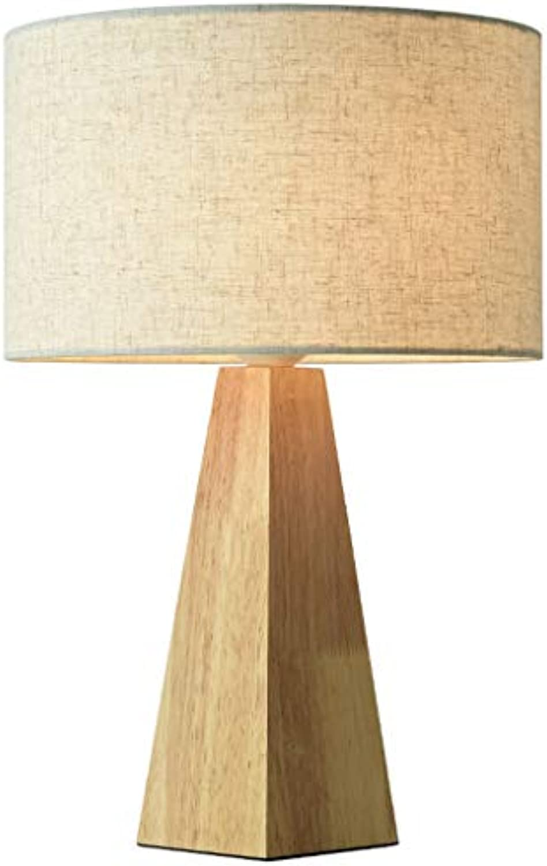 NACHTTISCHLAMPEN Lixin Hlzerne Kegel-Laternenpfahl-warme Dekorations-Schlafzimmer-Studien-Lampen-einfaches kreatives (Farbe   A, gre   45  30cm)