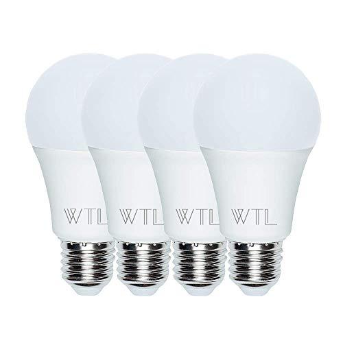 WTL 4 Pack A21 LED Light Bulbs, 150-200W Equivalent(20W), 2200LM High Lumens, 5000K Daylight White Non-dimmable E26 Medium Base Bulb for Living Room