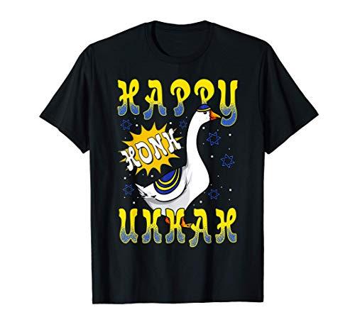 Chiste del pato de ganso de Happy Honk Hanukkah Camiseta