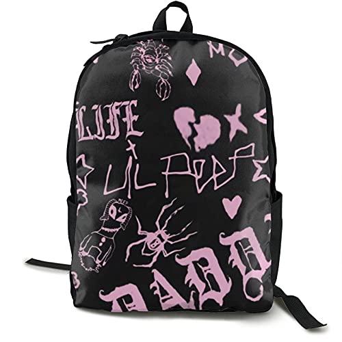 Lil-Peep - Mochila de gran capacidad para viajes escolares