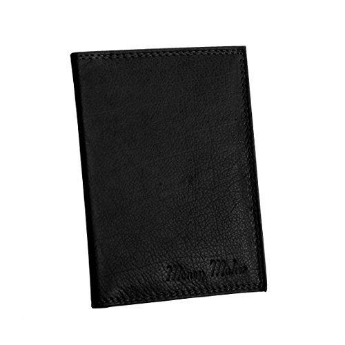 Money Maker - Wild Things Only !!! - kleine Leder Dokumentenmappe, Ausweismappe, Kartenetui in versch. Farben - präsentiert von ZMOKA® (Schwarz)