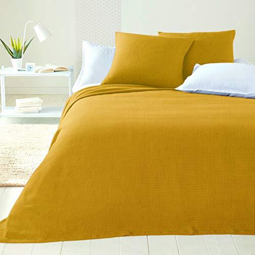 Colcha de algodón para cama de matrimonio, no necesita planchado, para cama individual de plaza y media, artesanal, primaveral, verano, decoración, cubresofá multiusos