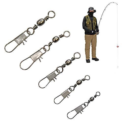 Fishing Swivels Fishing Tackle Assortment - Fishing Swivels with Snaps – Snap Swivels Fishing Swivel – Fishing Snap Swivels Snap Swivel Fishing Swivels Freshwater – Swivel Fishing Clips