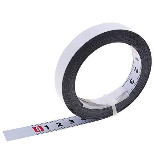 Cinta métrica de acero de metal autoadhesiva regla de escala métrica lee L a R para router T-Track Mesa Sierra herramienta carpintería
