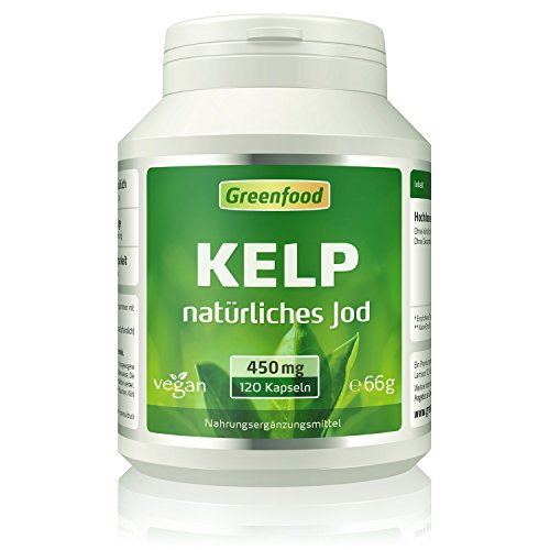 Kelp, 450 mg, 120 Vegi-Kapseln – natürliches Jod (100{034dafc9126dc384cee8db05ef4e01c34d72f95dc4c11d01e9ac87c02510bd34} Tagesbedarf) aus der Braunalge. Wichtig für Schilddrüse, Hormonhaushalt und Nervensystem. OHNE künstliche Zusätze, ohne Gentechnik. Vegan.