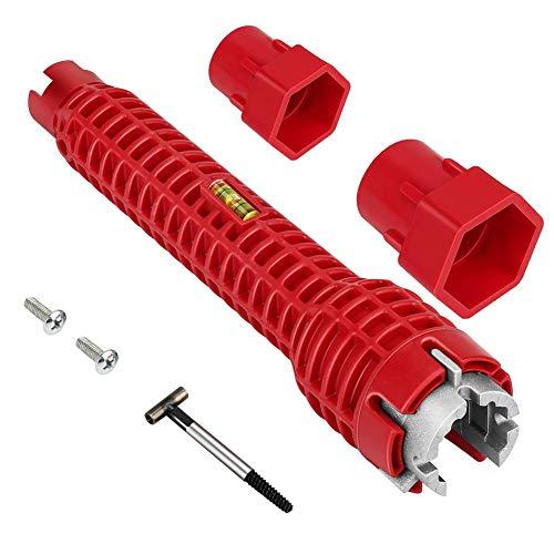 Llave de baño de doble cabeza para grifo de reparación de fontanería de cocina, herramienta de instalación de fregadero, llave de lavabo multifuncional, herramientas de fontanería