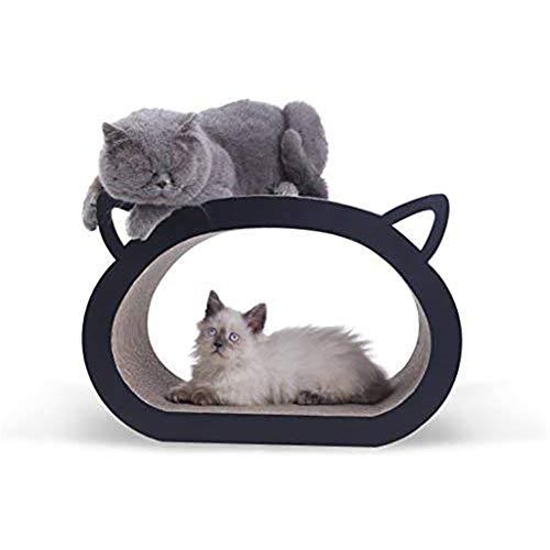 PRJEDLK Gatos Tablero para raspar Sacapuntas Gatos Juguete Resistente al Desgaste Resistente a los rasguños Papel Corrugado Gatos Rascador Cama