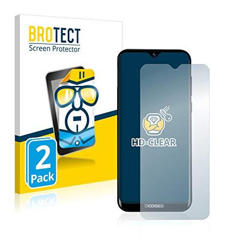 BROTECT Schutzfolie kompatibel mit Doogee Y8 (2 Stück) klare Bildschirmschutz-Folie