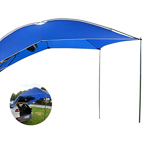 Blentude Awning Sun Shelter - Light Weight Waterproof Auto Canopy Camper Trailer Tent Tailgate Awning Tent Roof Top For SUV, MPV, Hatchback, Minivan, Sedan, Camping, Outdoor