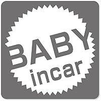imoninn BABY in car ステッカー 【マグネットタイプ】 No.39 丸型ロゴ (シルバーメタリック)