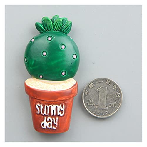 OUMYLFCNEC Imanes de Nevera Plantas Verdes Cactus Refrigerador Imán Mensaje Creativo Post Educación Early Formación Decoración Imanes Decorativos para frigorífico (Color : H)