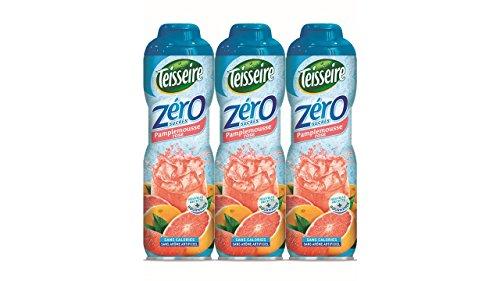 3 Pink Grapefruit 0% Sirup Zucker frei - 3 x 0,6L