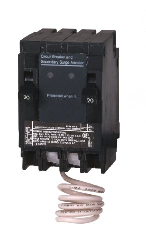 Murray MSA2020SPD Space Saving Whole House Surge Protection with Two 20-Amp Circuit Breakers