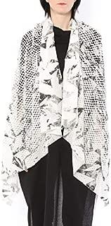 ミハイル ギニス アオヤマ MICHAIL GKINIS AOYAMA 着る ART ストール [登録意匠] 日本製 ハイテク ニット MADE IN TOKYO ギリシャ 大判 コットン Cotton WHITE SILVER ホワイト シルバー
