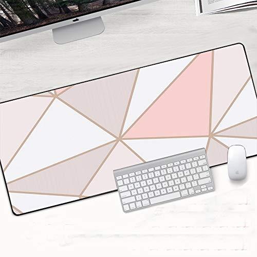 Mouse Pad,Alfombrilla de Ratón 900x400x2mm Oro Blanco Mármol Teclado Estera Estera Durable Escritorio Mousepad Caucho Anti Deslizamiento Gaming Mouse Pad Computer Acesorios