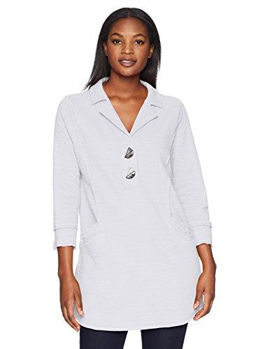 Neon Buddha Women's Standard Making a Statement Tunic, White, Large
