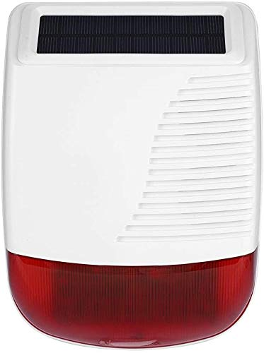 Sirena di Alarme, Sirena da esterno solare con Luce Lampeggiante LED funzionano con TECPEAK sistema di allarme