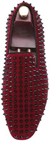 Burgundy loafers with spikes _image0