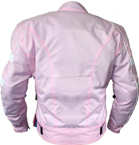 Damen Motorradjacke textilien Jacke Atmungsaktiv Kombigeeignet Rosa, Größe:3XL - 2