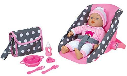 Spiel AG Lissi Baby Puppe mit Trageschale Wickeltasche Teller, Besteck