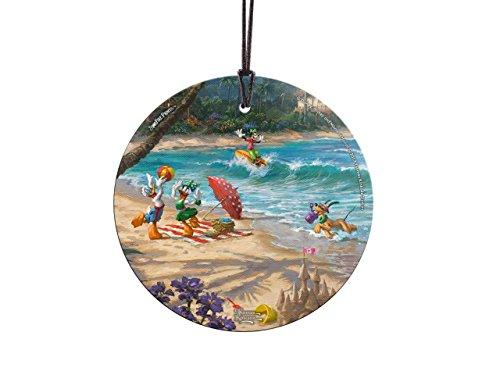 Trend Setters Thomas Kinkade Disney Donald Daisy Duck Goofy Pluto Starfire Prints Hanging Glass