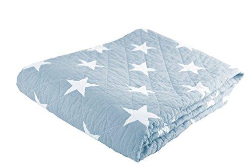 Couverture avec étoiles 140 x 180, Bleu clair
