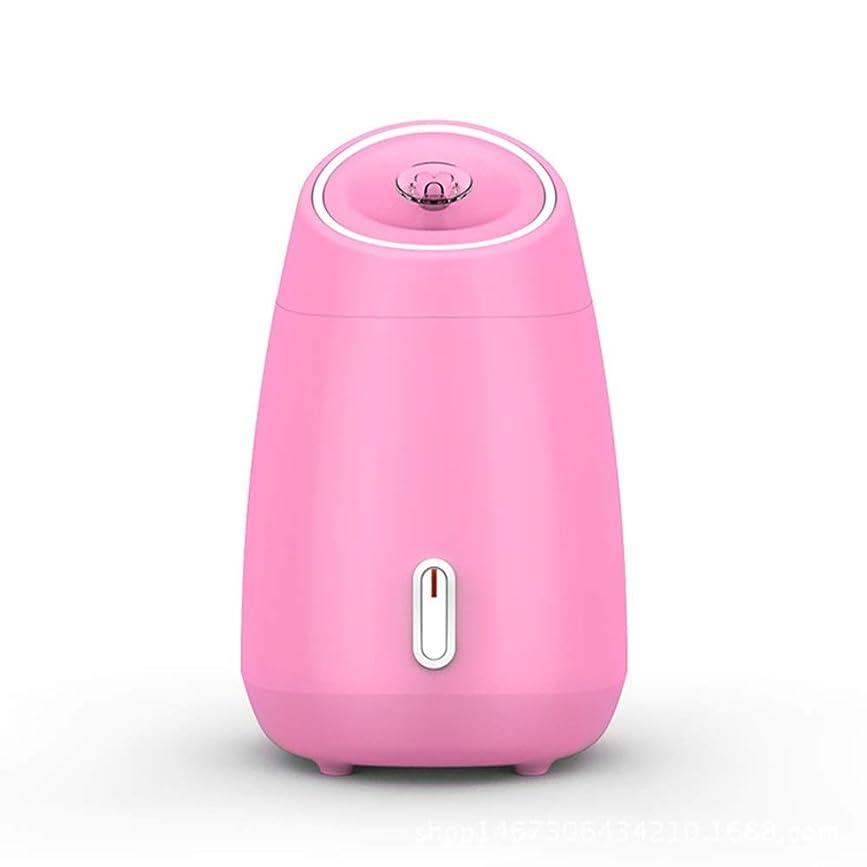 自治的キャッシュ繊細ZXF 加湿美容機器フルーツと野菜の蒸し顔ホットスプレーホーム美容機器2ピンクモデルホワイトを白くするナノスプレー水道メーター顔 滑らかである (色 : Pink)
