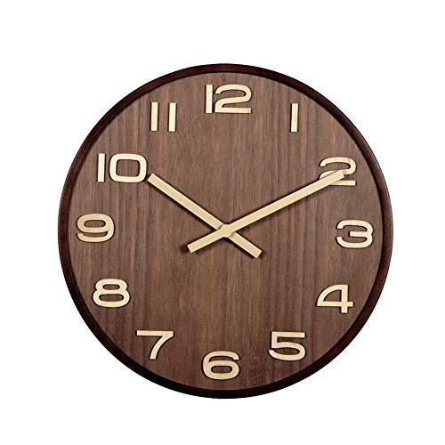 14inches Houten Wall Clock, Vintage rustieke, landelijke stijl hangende Klok for Keuken Slaapkamer Office, Groot aantal Indoor Silent Klokken batterij-aangedreven