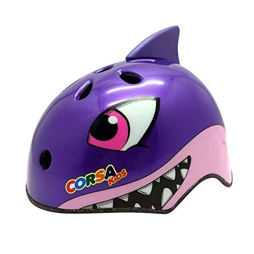 Yiwa Fietshelm voor kinderen, ultralicht S Requin violet
