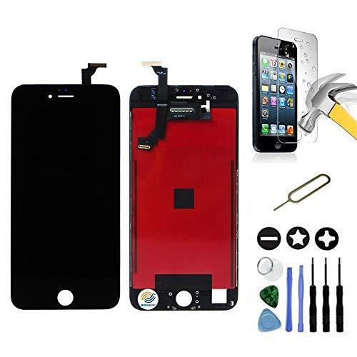 Mobilevie Pantalla LCD Retina + Pantalla Táctil En Chasis No iPhone Completa - Negro, iPhone 6 Plus