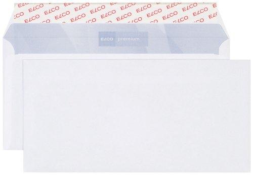 Elco 30786 Premium Briefumschlag, Dinlang, 100 g, weiß