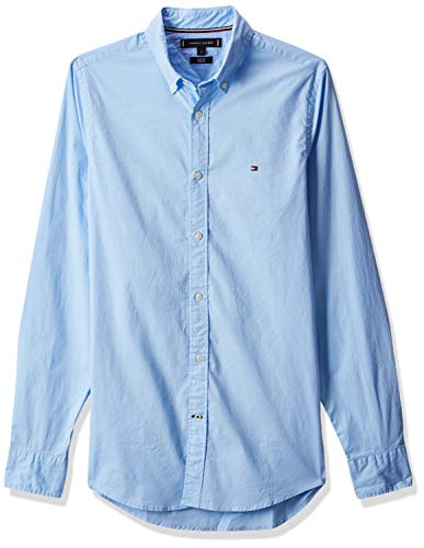 Tommy Hilfiger Herren CORE Stretch Slim POPLIN Freizeithemd, Blau (Shirt Blue 474), X-Large
