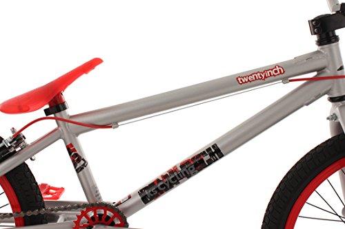 KS Cycling Fahrrad BMX Freesyle 20″ Twentyinch Silber-rot - 2